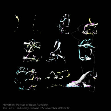 Movement Portrait of Rosie Ashworth by Jan Lee and Tim Murray-Browne