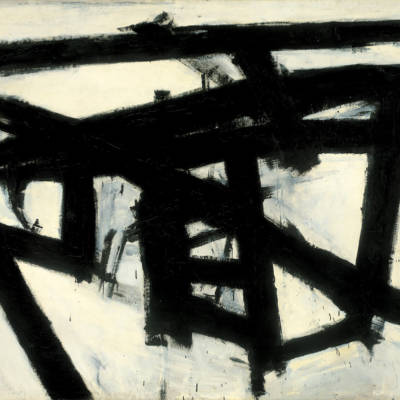 Franz Kline - Mahoning (1956), an example of embodied abstract expressionist painting